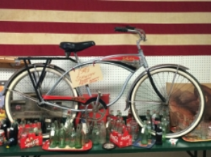 Treasures Abound on the Eclectic Highway (State Highways 175 and 31 between Mabank and Chandler).  You can buy this vintage Schwinn bike at Backroom Antiques in Chandler, Texas. Photo credit: M'Lissa Howen