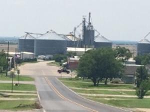 The grain silo in Prosper. Photo credit: M'Lissa Howen.