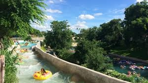 The rapids in New Braunfels are now man-made. The Schlitterbahn opened for operation in 1996. Photo Credit: Summerfuninautin.com (public domain).