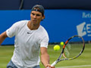 Nadal in the Aegon Championship, which is supposed to be a warm-up for the big one.  Photo Credit: Wiki Commons (public domain).