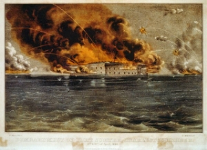 """Bombardment of Fort Sumter(3b52027r)"" by Published by Currier & Ives - Library of Congress Prints and Photographs Division Washington, D.C. Licensed under Public Domain via  Wikimedia Commons  -"