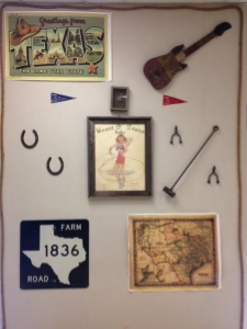 One wall in M'Lissa's class displaying various Texas treasures. Photo credit: Steve Howen.