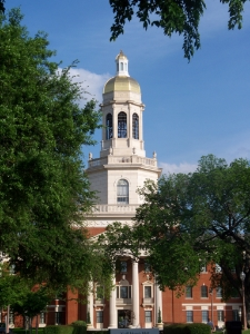 "Any of M'Lissa's students can tell you about the oldest university in continuous existence in Texas. ""Baylor Pat Neff 2"" by Brentsalter - Own work. Licensed under CC BY-SA 3.0 via  Wikimedia Commons -"
