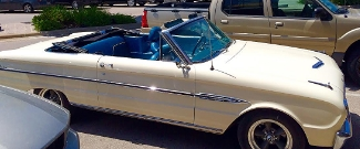 We spied this pristine 1963 Ford Futura in downtown Marble Falls. Photo Credit: M'Lissa Howen.