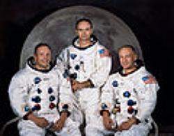 The Apollo 11 Crew. Photo Credit: NASA. Licensed via WikiMedia Commons (Public Domain).