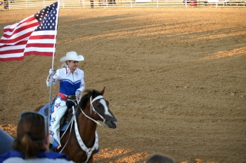 Rodeos are big on patriotism. Photo Credit: Steve Howen.