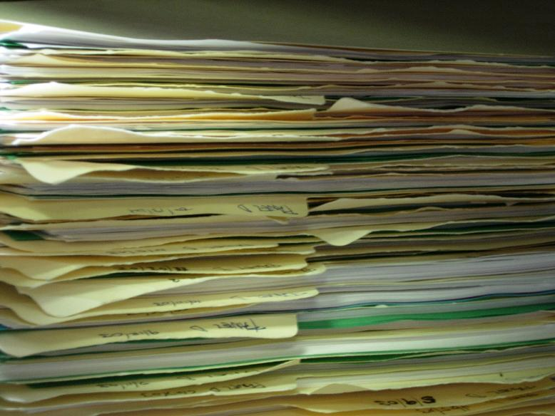 Paperwork. It never, ever ends. Photo by By Tom Ventura via  Wikimedia Commons