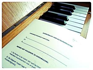 Muziekauteursrechten Componist, Muziekrecht en Akte van Overdracht