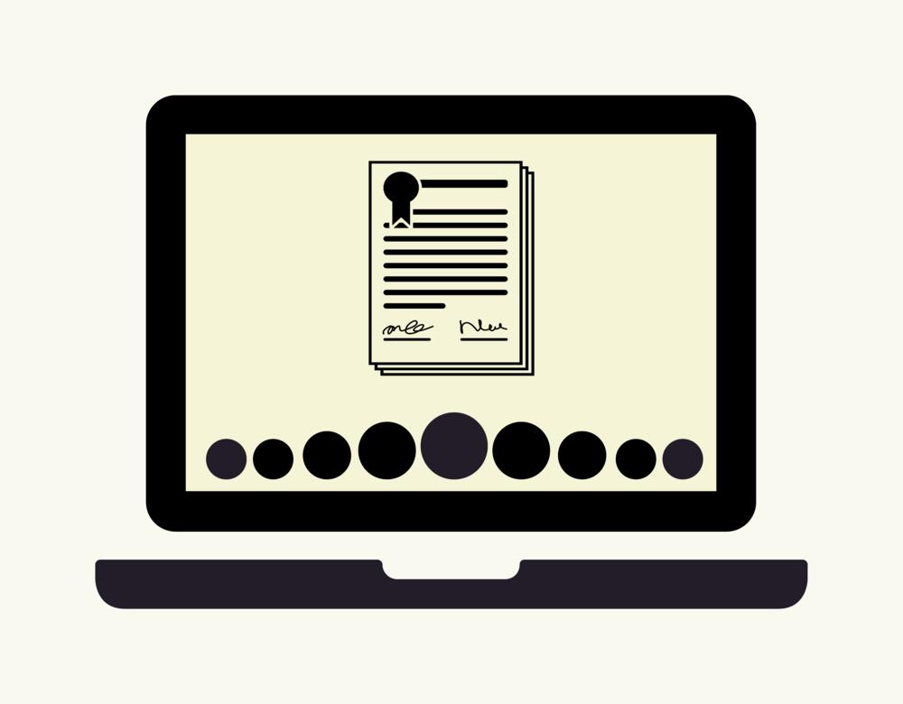 Online akkoord klikken met terms of service van de muziekapp