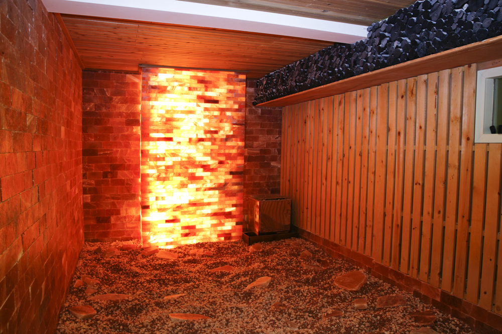 Salt Room   Our Salt Room is lined with Himalayan salt blocks which help improve the respiratory system by clearing your pores and improving circulation.
