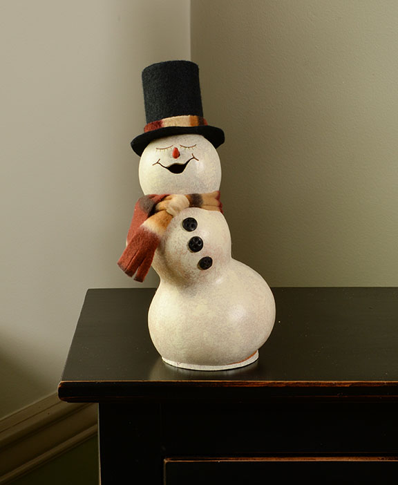 Blizzard the Snowman Painted Gourd