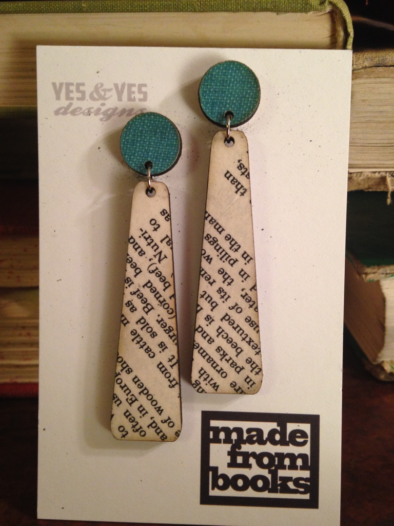 TEXT DUO PADDLE EARRINGS $34