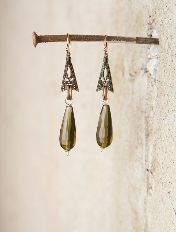 Faceted olivine bead earrings_e-1440.jpg