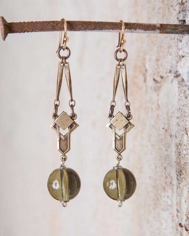 vintage olivine bead earrings_e-1497.jpg
