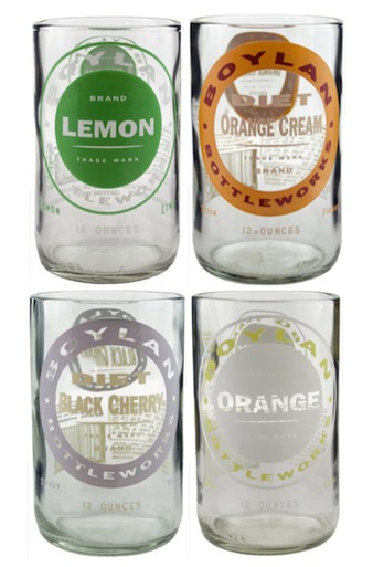 UPCYCLED CLEAR POP ASSORTED JUICE TUMBLERS $36