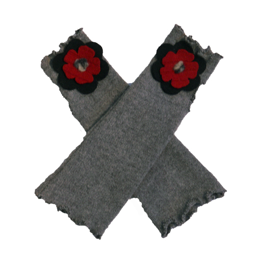 Gray and Red Texting Gloves $36