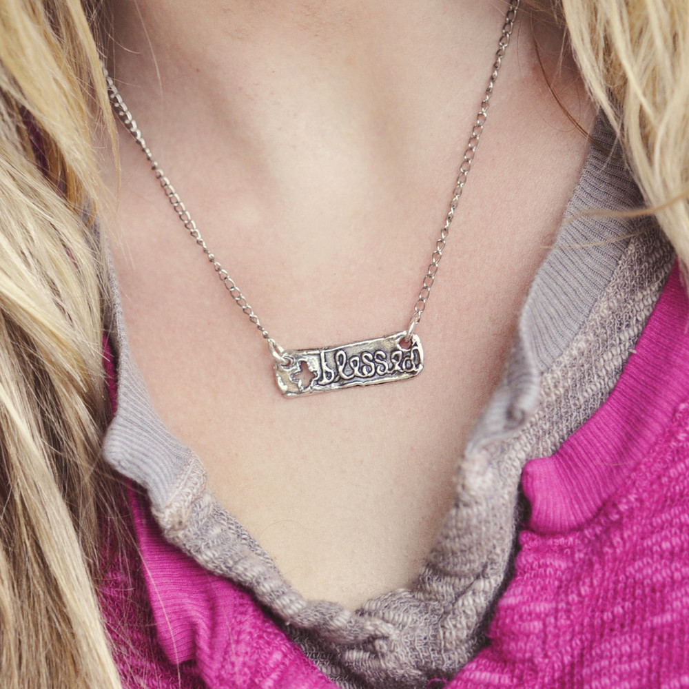 BLESSED BAR NECKLACE $44