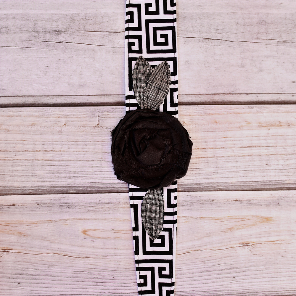 BLACK MAZE COTTON HEADBAND $16