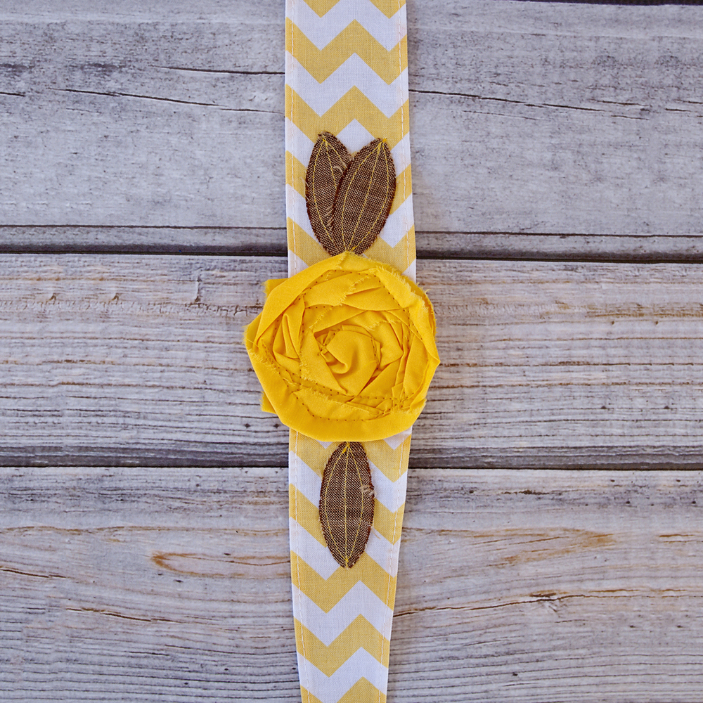 LARGE YELLOW COTTON HEADBAND $16