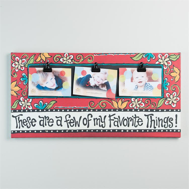 FAVORITE THINGS' CANVAS CLIP FRAME  $48