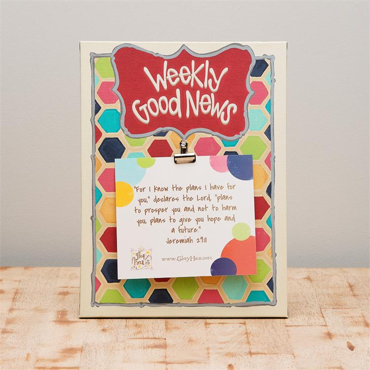WEEKLY GOOD NEWS' CANVAS PRINT $36