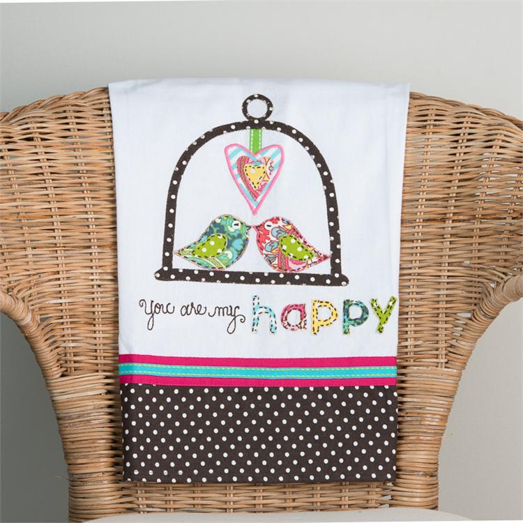 YOU ARE MY HAPPY' TEA TOWEL  $16