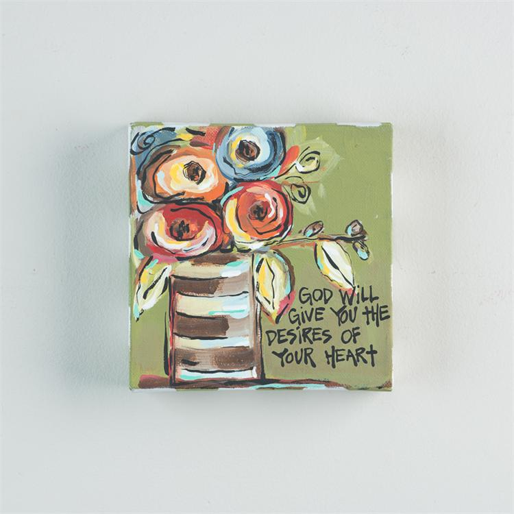 GOD WILL GIVE YOU THE DESIRES' CANVAS  $15
