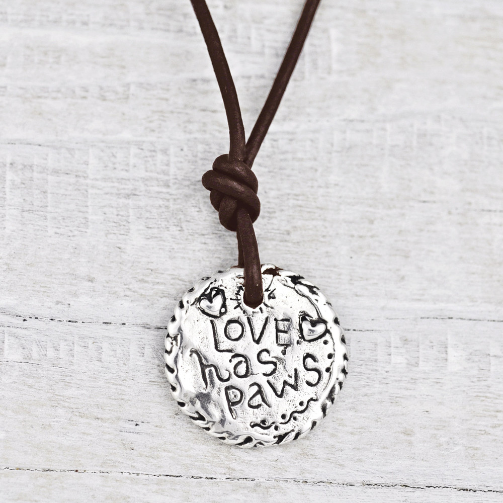 Back of Love Has Paws Necklace