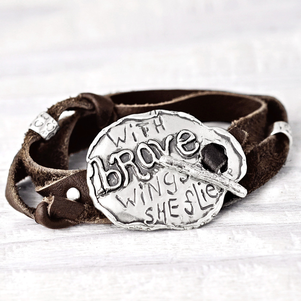WITH BRAVE WINGS BRACELET   $60