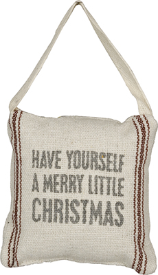 HAVE A MERRY LITTLE CHRISTMAS MINI PILLOW  $7