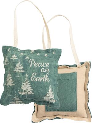 PEACE ON EARTH MINI PILLOW $9
