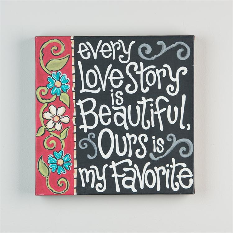 EVERY LOVE STORY' CANVAS PRINT $32