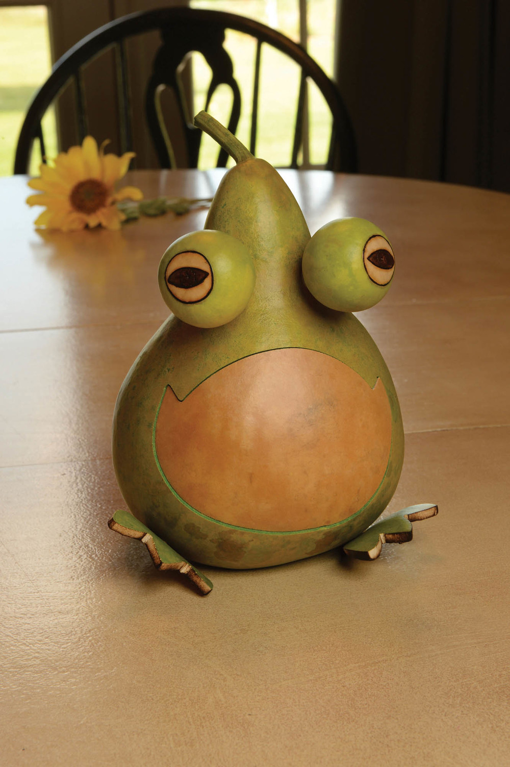 JESSE THE FROG PAINTED GOURD $38.00