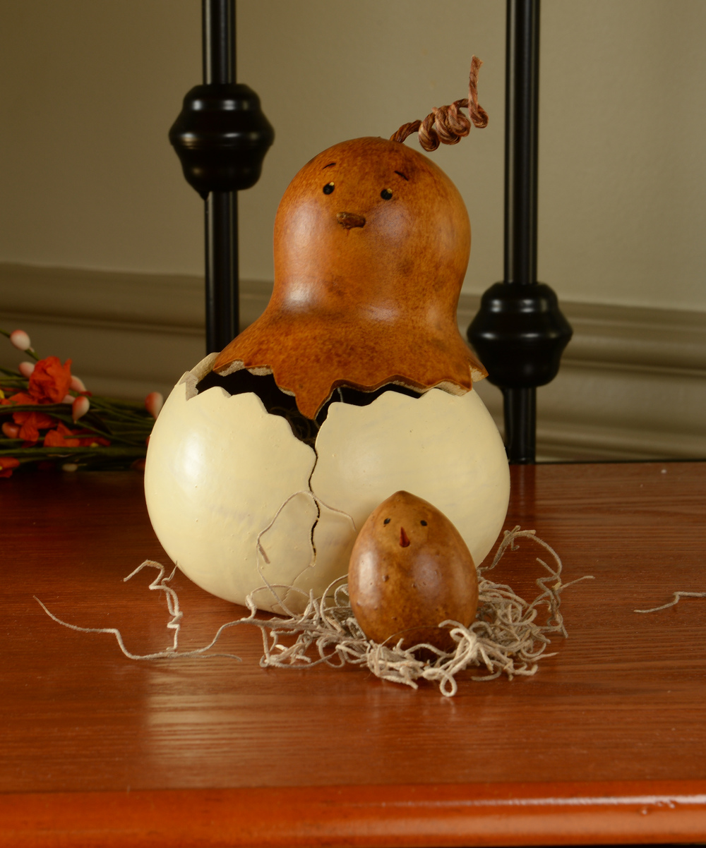 HEN FLORA WITH BABY CHICK $29.00
