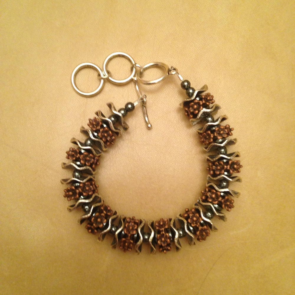STEEL & COPPER BRACELET $135