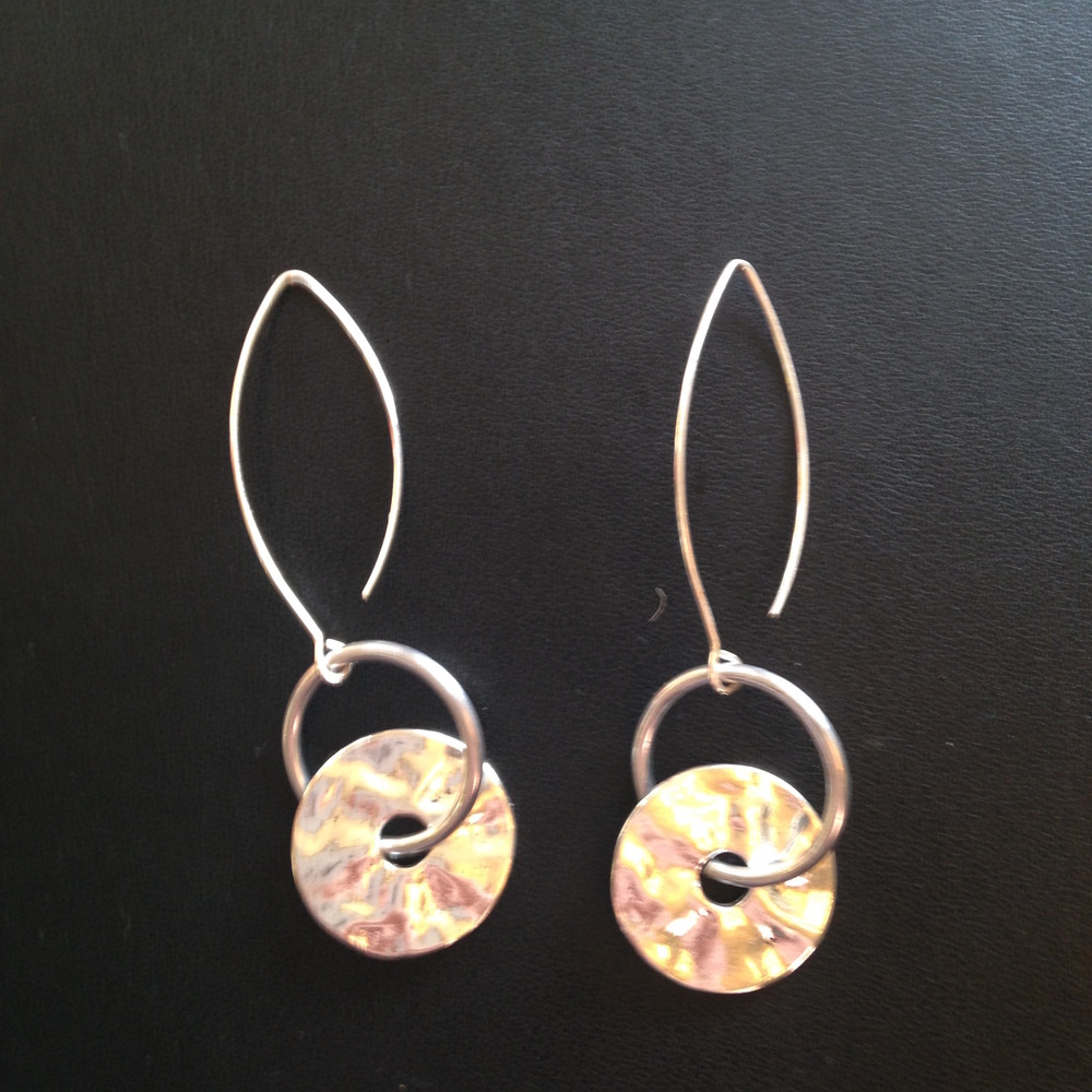 ORGANIC DISC EARRINGS $58
