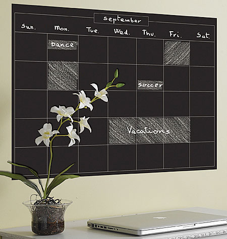 MONTHLY CALENDAR VINYL DECALS $25