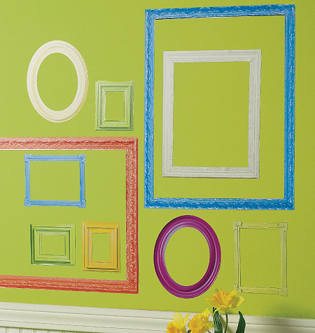 COLORFUL FRAMES VINYL DECALS $20