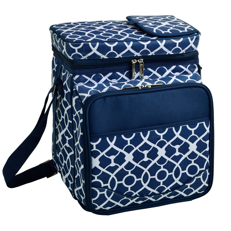 PICNIC COOLER FOR 2 - TRELLIS BLUE $74