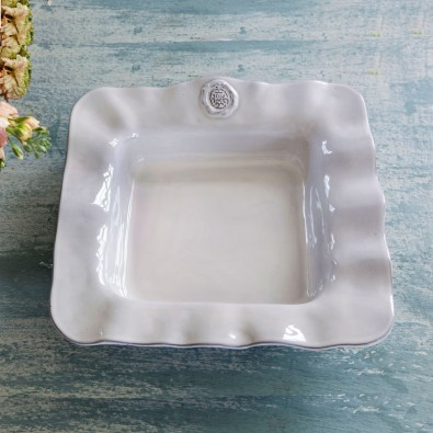 "MEDALLION CERAMIC CASSEROLE 8"" X 8""  $63"