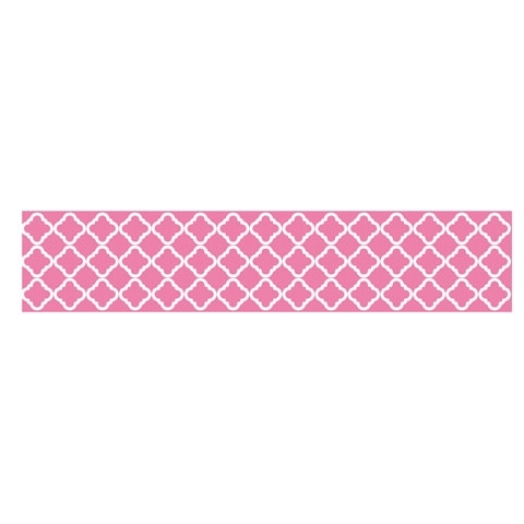 PEEL 'N STICK PINK QUATREFOIL WALLPAPER $20