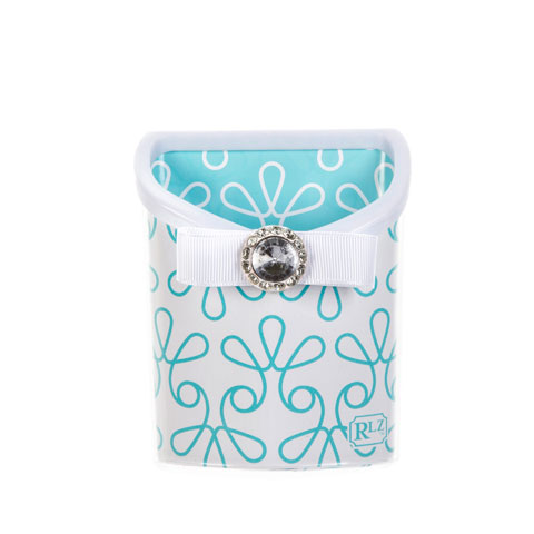 AQUA SWIRL MAGNETIC PENCIL BIN $6