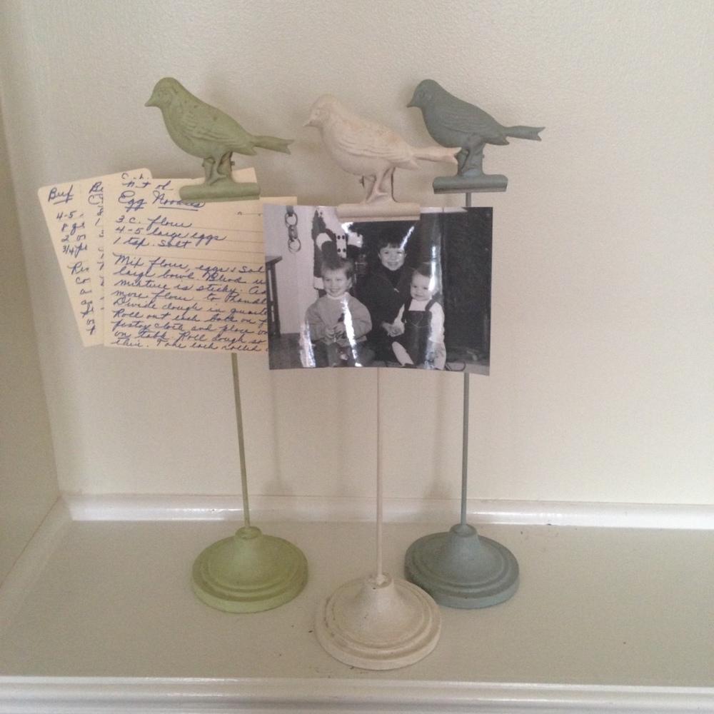 METAL BIRD CLIP - Green $12    METAL BIRD CLIP - White $12    METAL BIRD CLIP - GRAY $12