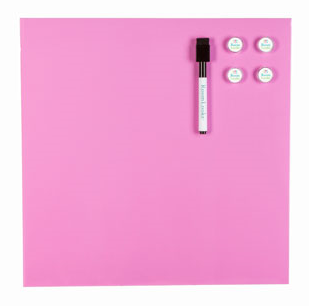PINK MAGNETIC DRY ERASE WALLBOARD $13