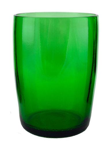 UPCYCLED OVERSIZED EMERALD GLASS TUMBLER $9