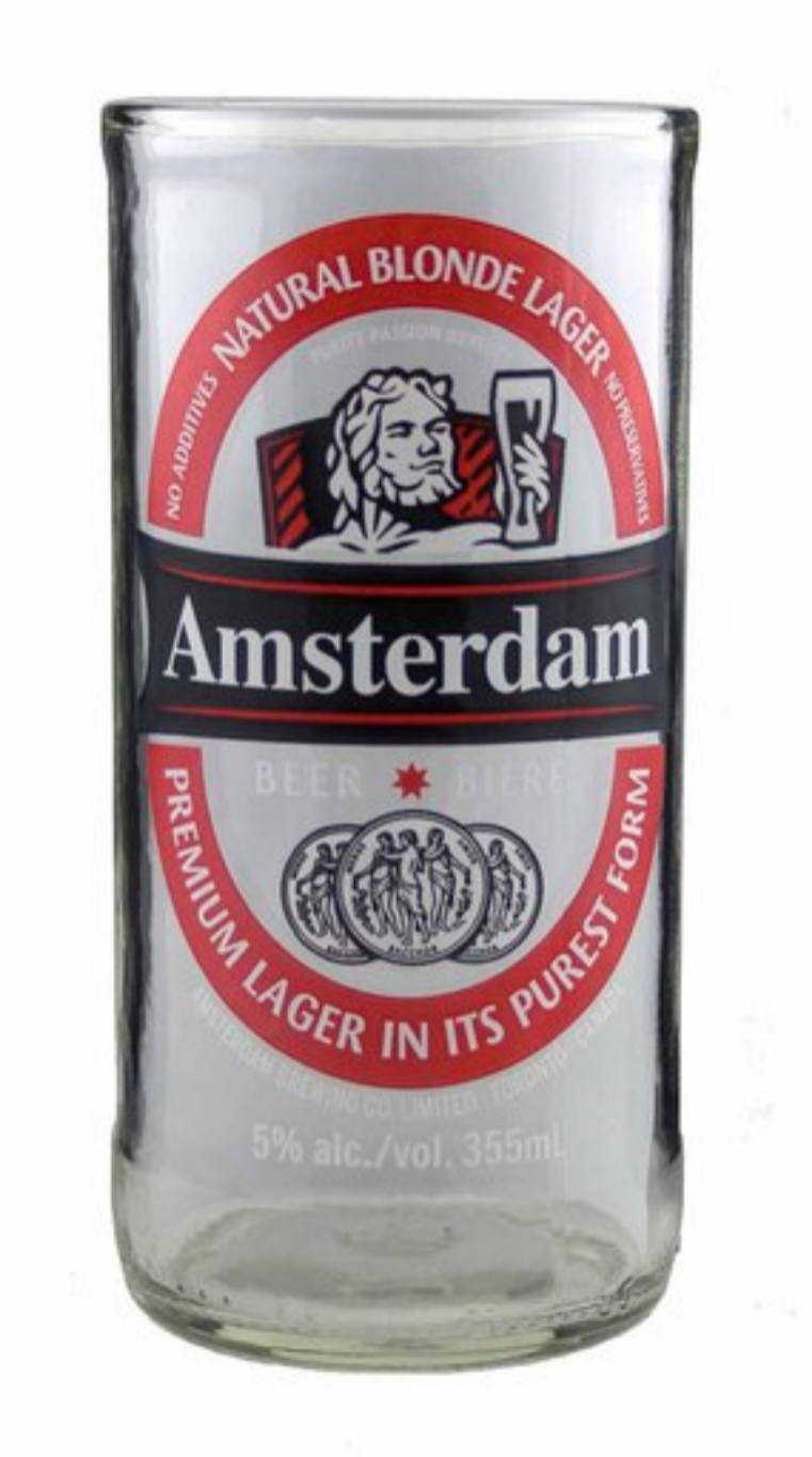 UPCYCLED AMSTERDAM BEER TUMBLER $8