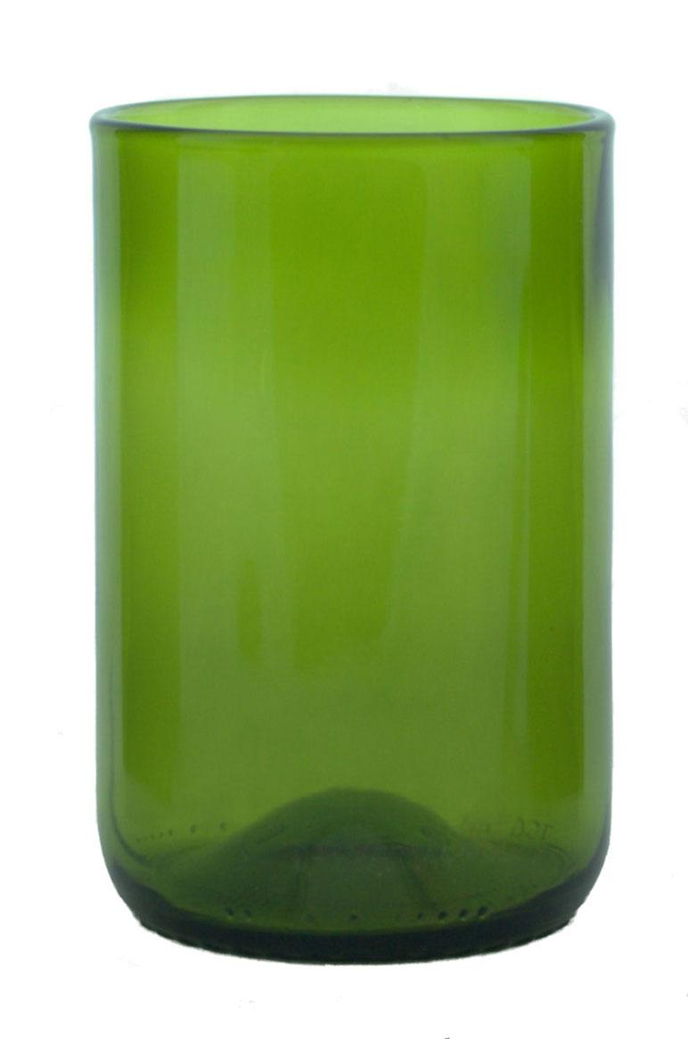 UPCYCLED PERIDOT GREEN GLASS TUMBLER $9