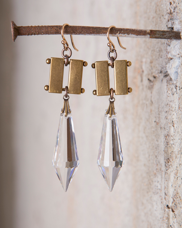 VINTAGE CHANDELIER CRYSTAL EARRINGS  $118
