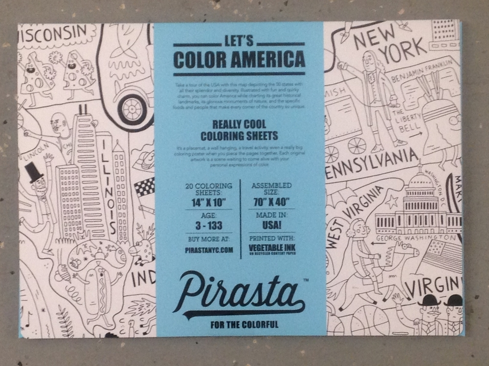 Let's Color America Placemats $20