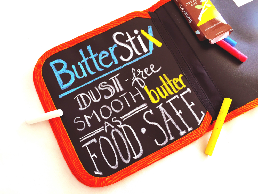 4 ButterStix included with each book.